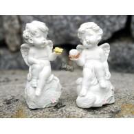 engel zittend op steen polystone hoog 10 cm 2 assortiment design
