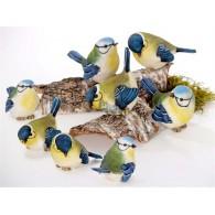 vogel van polystone gekleurde uitvoering 4 assortiment design hoog 9 cm