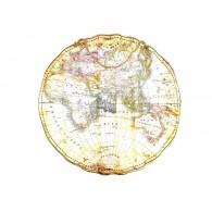 muurdecoratie wereld kaart metaal 93x76 cm sp