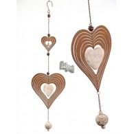 windspel hanger hart van metaal en polystone lang 72 cm