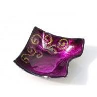 glas schaal sirius pink 9.5x9.5x3.5 cm op=op