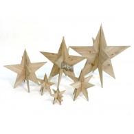 kerst ster 3d hout 39 cm op=op