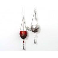 hanger met theelicht houder 2 assortiment design 68 cm lang op=op