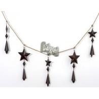 kerst guirlande van  sterren (9cm) 120cm met klokje