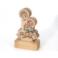 houtsnijwerk kaarsen hout lantaarn inclusief led