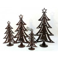 dennenboom op standaard bruin metaal hoog 31 cm op=op