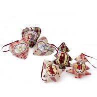 kerst hanger dennenboom en hart 2 assortiment design en 3 assortiment kleur op=op