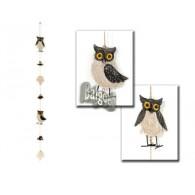 kerst hanger uilen van hout 96 cm op=op