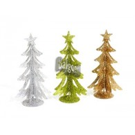 decoratie kerstboom 3 assortiment kleur hoog 23 cm metaal