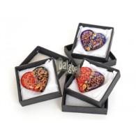 hartjes van glas 5 cm in luxe doos 3 assortiment kleur
