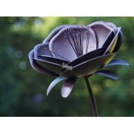 tuinsteker bloem paars hoog 1.42 meter rond 35 cm (met stampers) op=op
