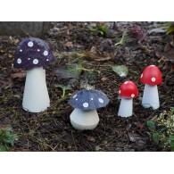 paddenstoel metaal groot paars 26x7x14 cm op=op
