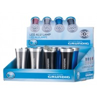 zaklamp aluminium 9 led inclusief 3xAAA batterijen 4 assortiment kleur in display