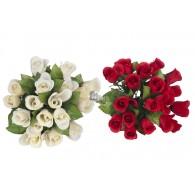rozen boeket  35x18x18 cm 2 assortiment kleur op=op