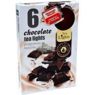 theelicht geur 18x40 box a 6 pc chocolade
