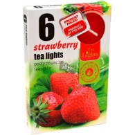 theelicht geur 18x40 box a 6 pc strawberry (aardbei)
