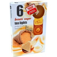 theelicht geur 18x40 box a 6 pc brown sugar