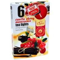 theelicht geur 18x40 box a 6 pc vanille cherry