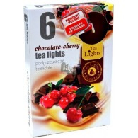theelicht geur 18x40 box a 6 pc chocolade kers