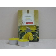 theelicht geur maxi box a 6 stuks lemon op=op